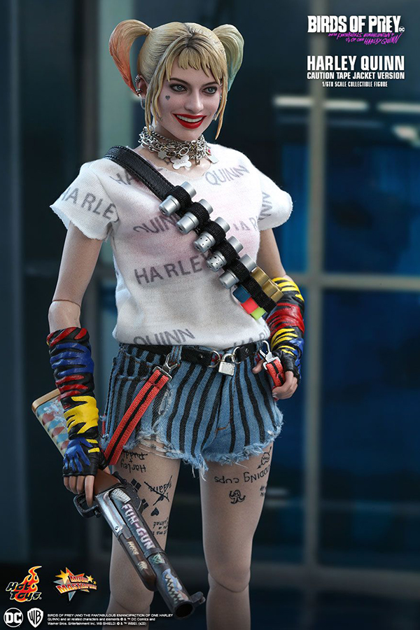 Hot Toys Dc Universe Birds Of Prey 1 6 Harley Quinn Caution Tape Jacket Version Hypertoys